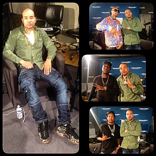 DJ Envy wearing Nike Air Foamposite Pro Army Camo