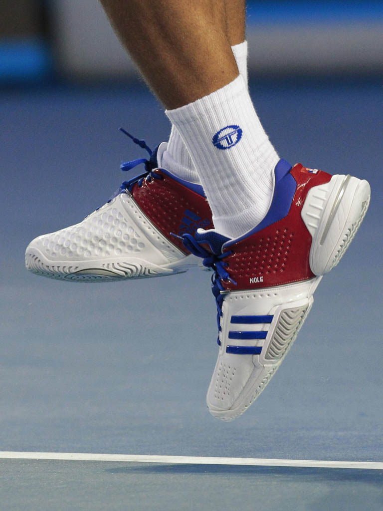 Novak Djokovic wearing adidas Barricade 6.0