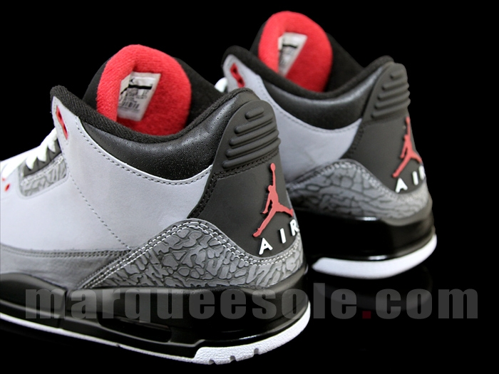 brand new 51c50 5569a Air Jordan Retro 3 Stealth Varsity Red Light Graphite Black 136064-003