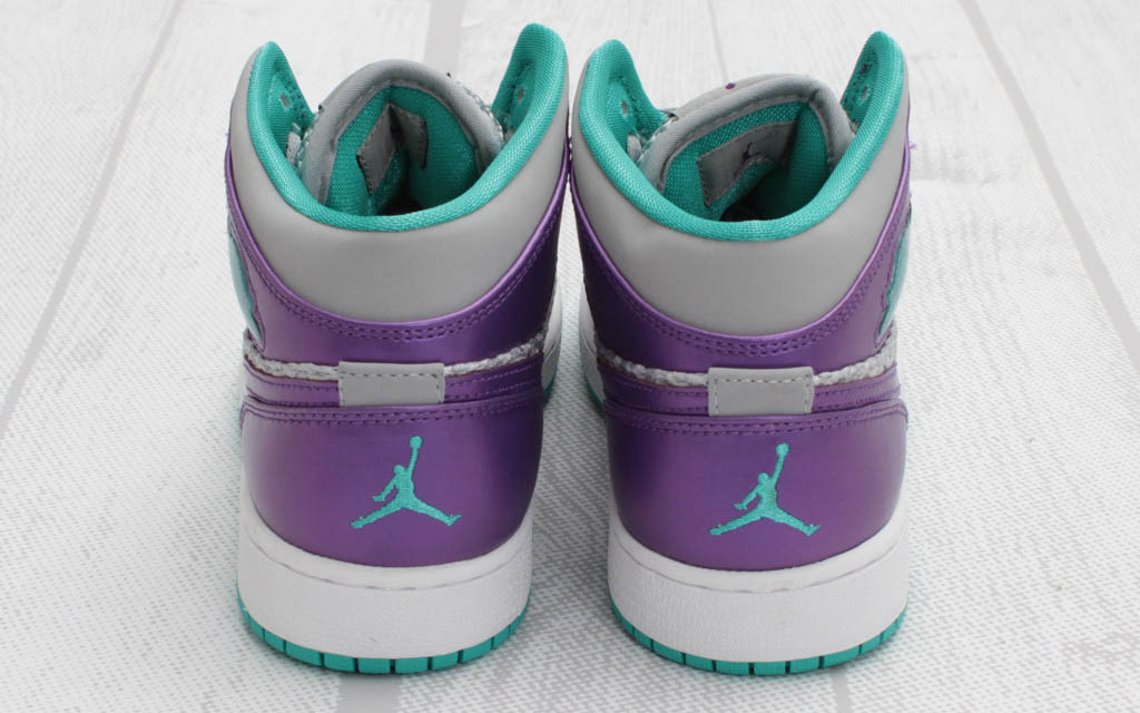 Air Jordan 1 Phat GS Wolf Grey Ultraviolet Green 364781-016 (4)