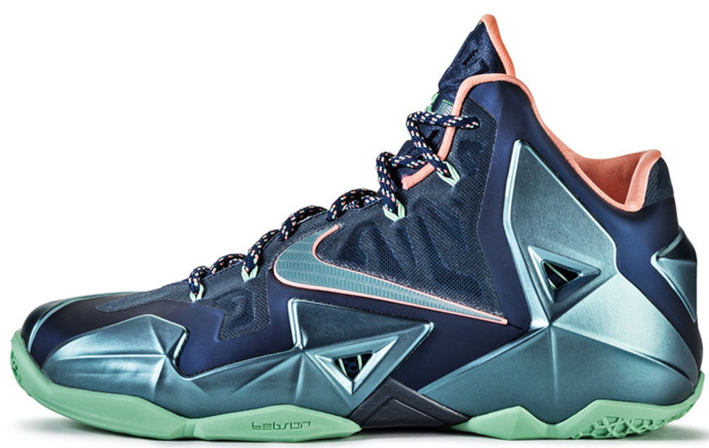 cheaper be7cc fb42f Nike LeBron 11  Akron vs. Miami  616175-400 Brave Blue Mineral Teal-Atomic  Pink