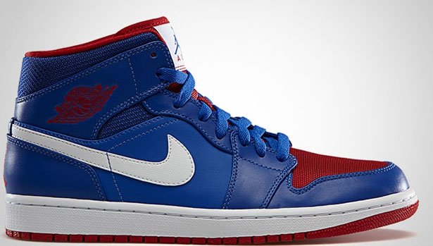 Air Jordan 1 Mid Game Royal/Gym Red-White