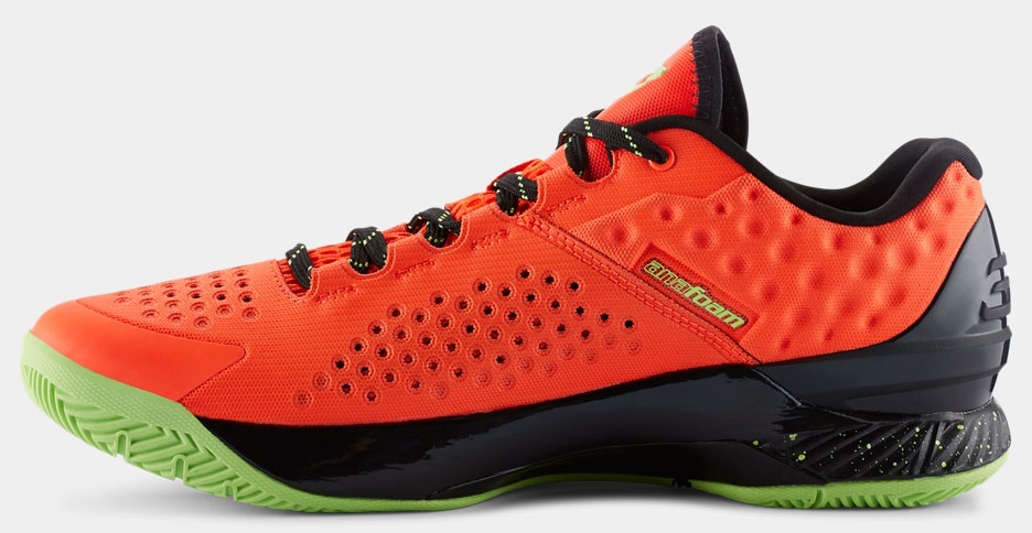 under armour curry one green black