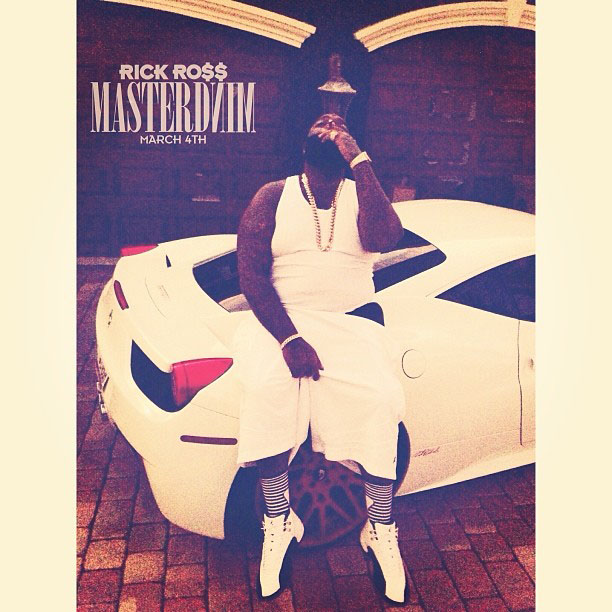 Rick Ross wearing Air Jordan 12 XII Taxi