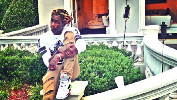 Young Thug wearing the 'ProStars' Air Jordan V 5