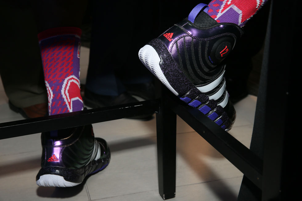 Dwight Howard wearing adidas D Howard 4 All-Star