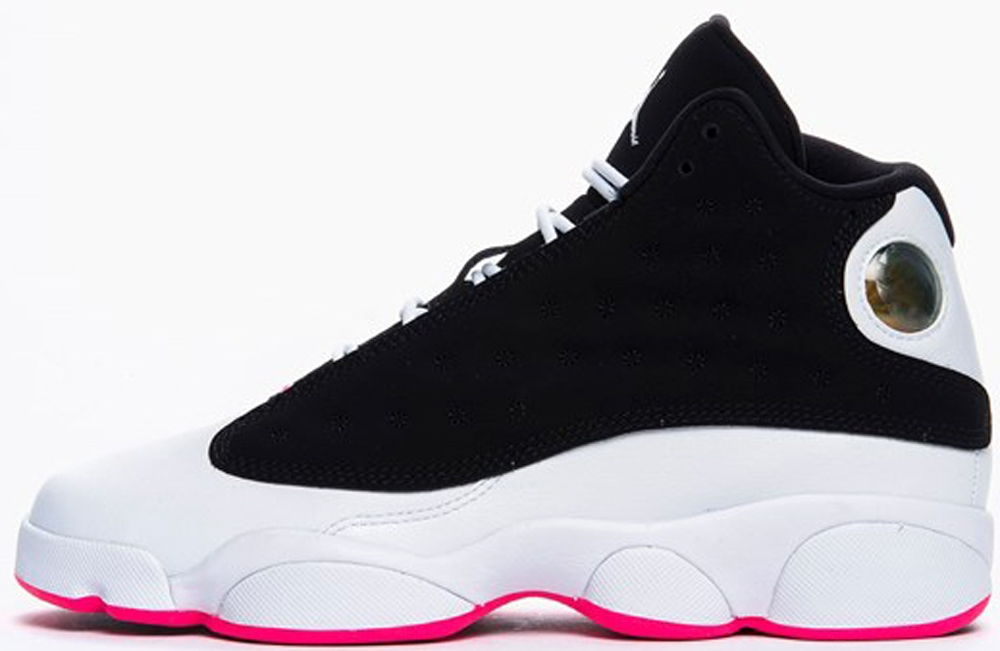 Air Jordan 13 Retro Girls Black/Hyper Pink-White