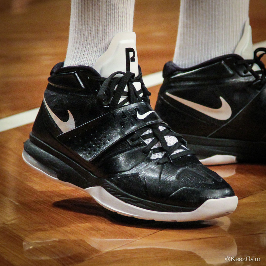 SoleWatch // Up Close At Barclays for Nets vs Clippers - Paul Pierce wearing Nike Air Legacy 3
