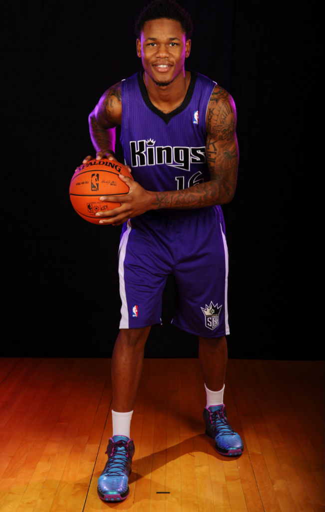 Ben McLemore wearing adidas Rose 3.5 Iridescent