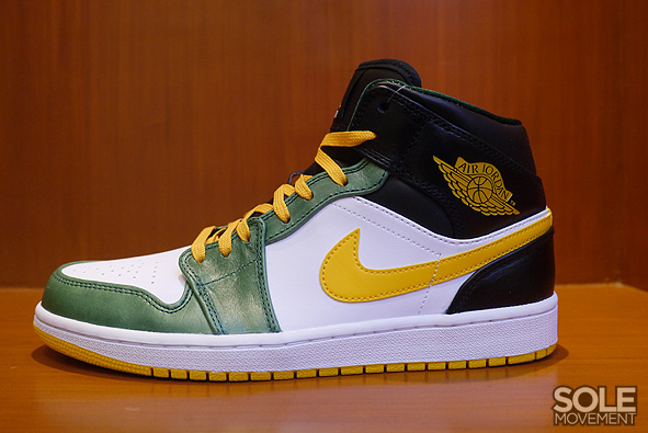 air jordan 1 green yellow black