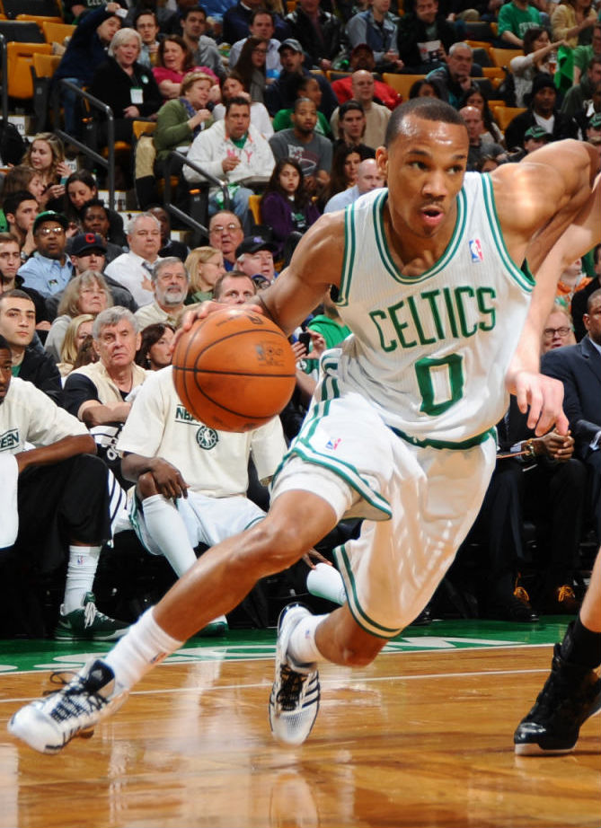 Avery Bradley wearing adidas Crazyquick