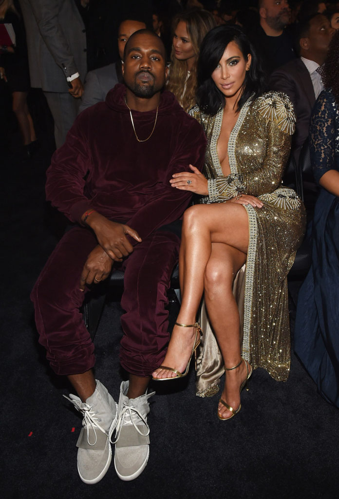 Kanye West wearing adidas Yeezy 750 Boost at the Grammy Awards (2)