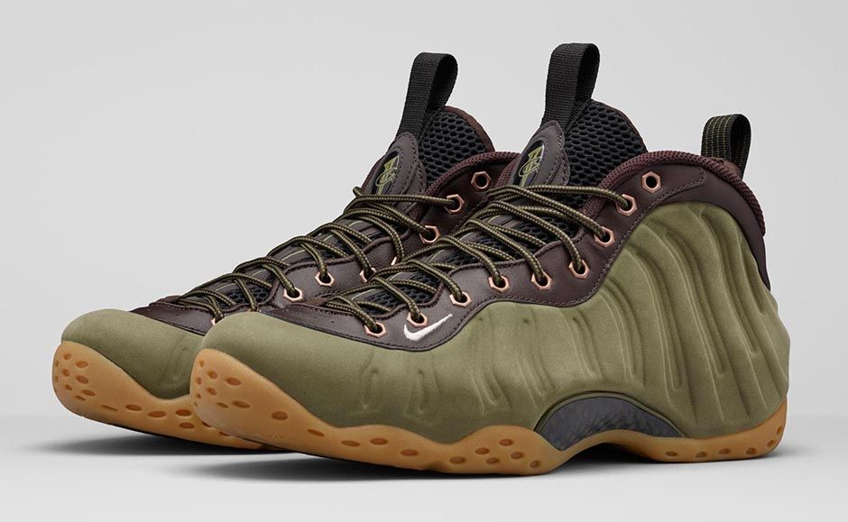Here S The Olive Nike Air Foamposite One Officially