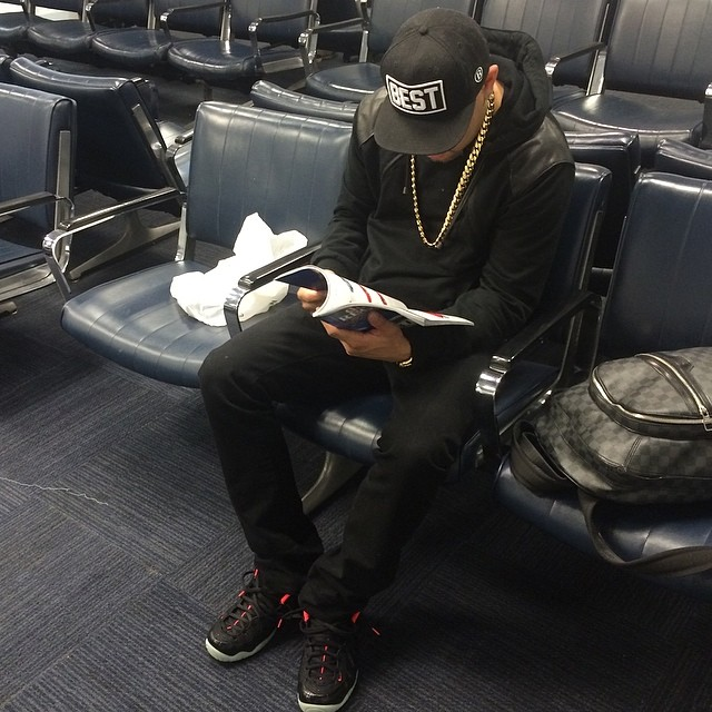DJ Envy wearing Nike Air Foamposite Pro Yeezy