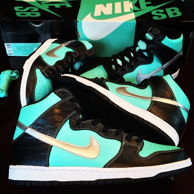 DJ Skee Picks Up Nike Dunk High SB Tiffany