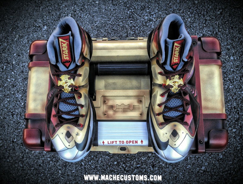"Nike LeBron X ""Ironman 3"" for LeBron by Mache Custom Kicks (4)"