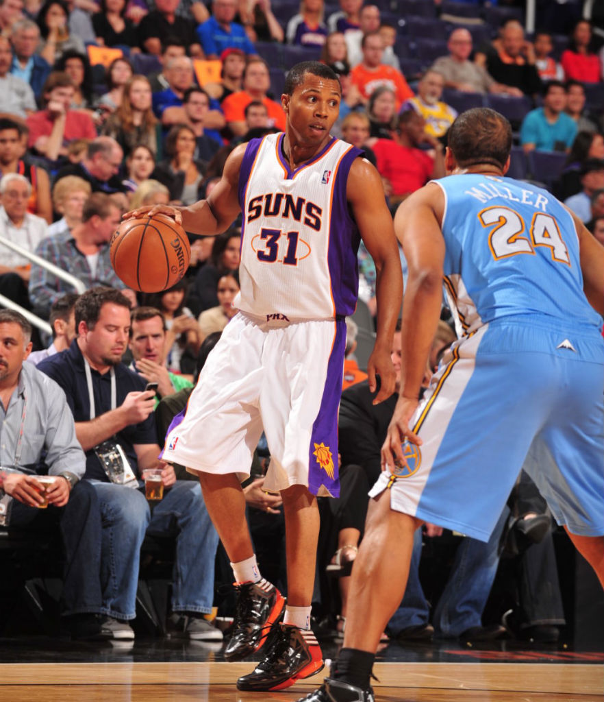 Sebastian Telfair wearing adidas adizero Crazy Light 2 Black Orange