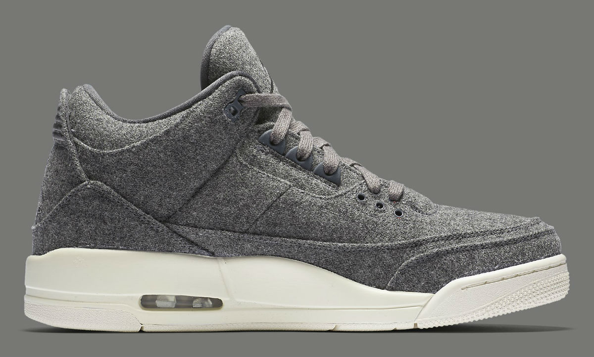 free shipping 55e1b d5ee9 Air Jordan 3 Wool Release Date Medial 854263-004