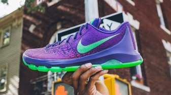 Nike KD 8 Suit Court Puprle Green Strike Crimson