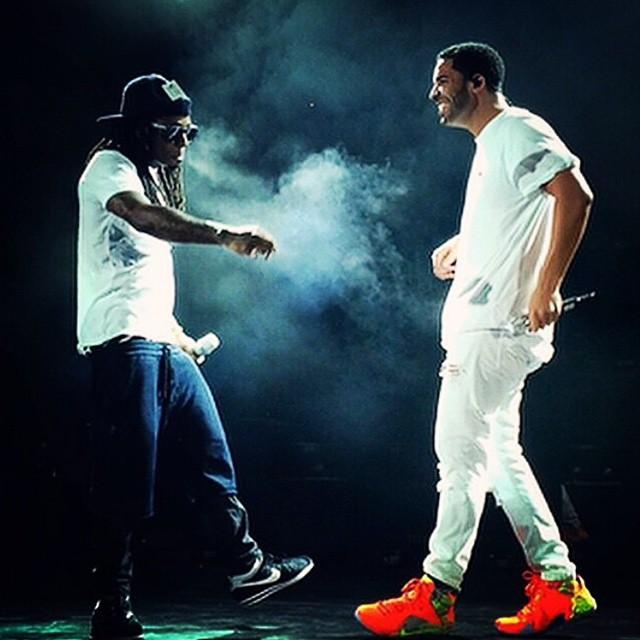 half off 7d196 03168 Drake wearing Nike LeBron XII 12 Meridian Lil Wayne wearing Nike Cortez