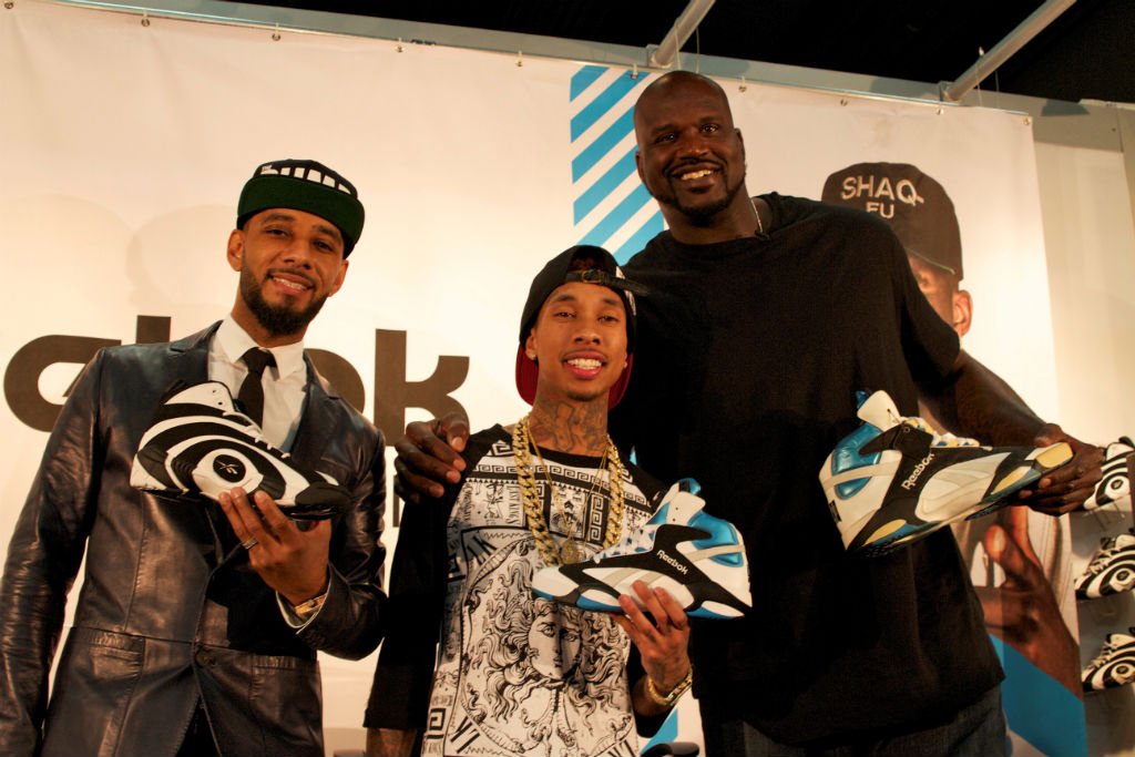 Shaq, Swizz Beatz & Tyga For Reebok Classics At Project (4)