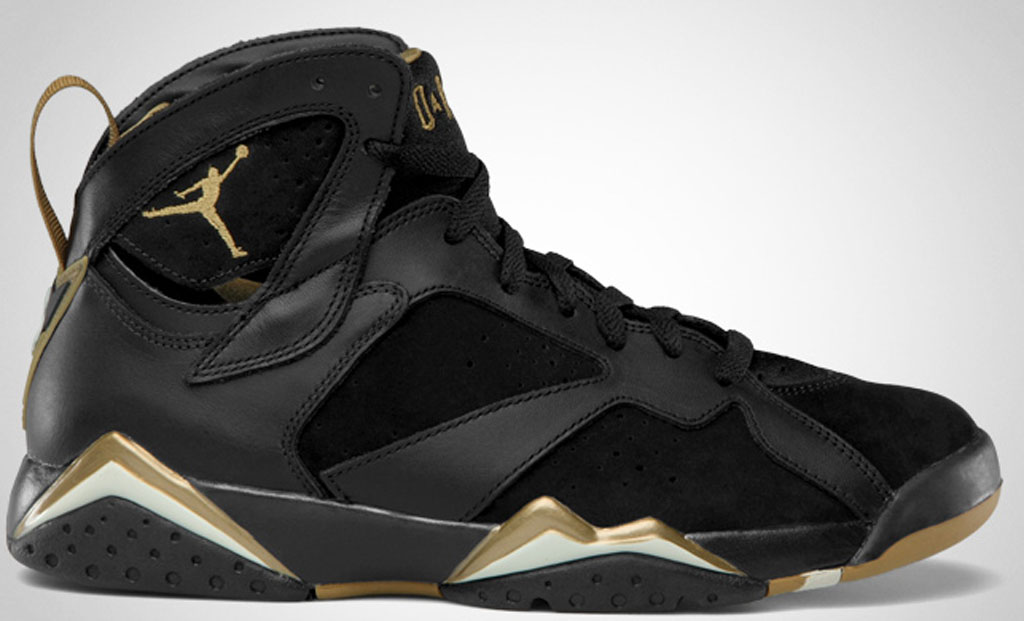 air jordan 7 black and gold release date