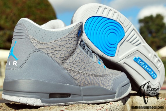 purchase cheap d8fc4 bc444 Dropping next month for the young ones is this grey-based colorway of the Air  Jordan Retro 3
