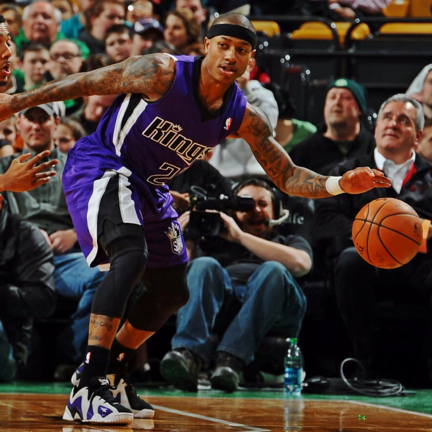 Isaiah Thomas Reebok Kamikaze II Low Kings Away PE