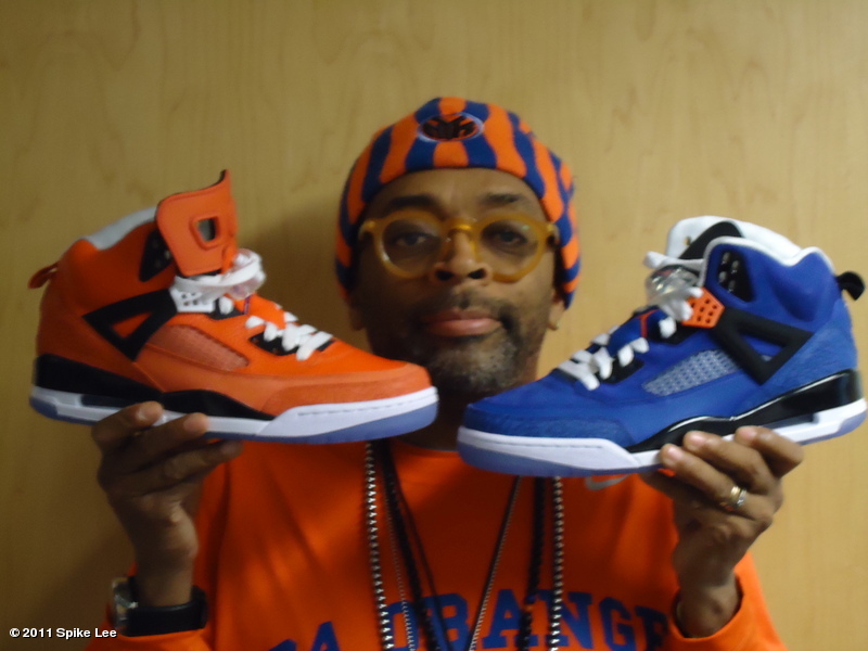 "Spike Lee Shows Off Two ""New York Knicks"" Jordan Spiz'ike Exclusives"
