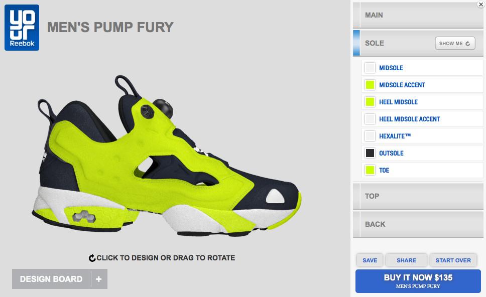 6fa0eec0ead466 Reebok Pump Fury Available for Customization on YourReebok