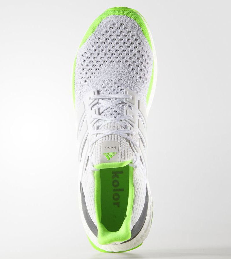 Kolor adidas Ultra Boost White Solar Green (2)