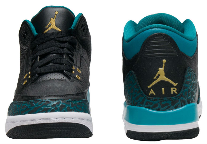 Air Jordan 3 GS Jaguars Release Date Tongue Heel 441140-018