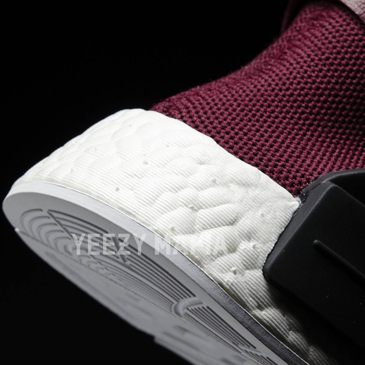 Adidas NMD Pharrell Noble Crimson bb0617 Heel Detail