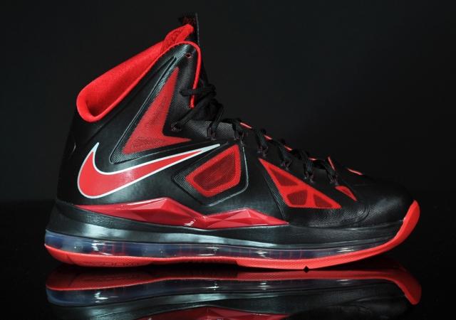 Nike LeBron 10 X Away Black Silver Red