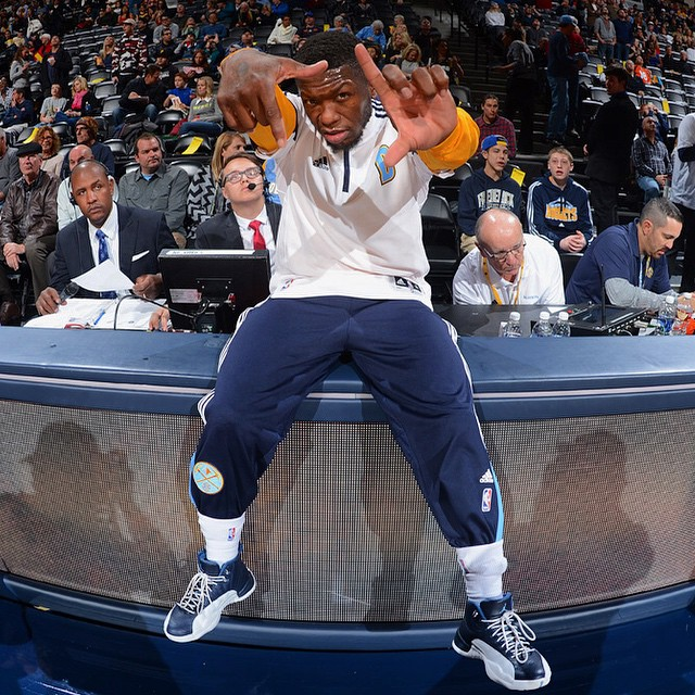 new product 1c2e8 acfb6 ... Nate Robinson wearing Air Jordan XII 12 Obsidian ...