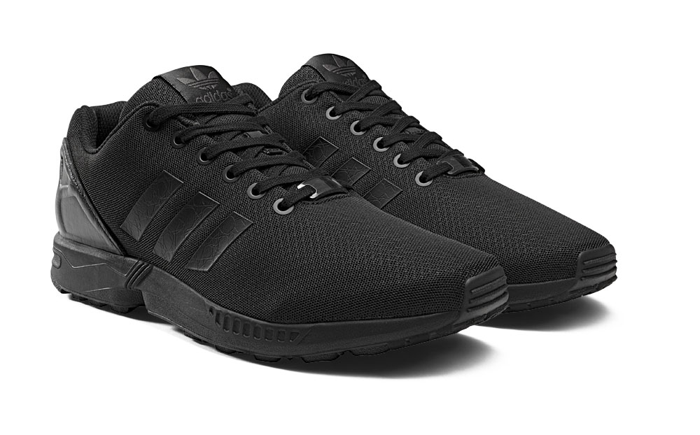 b39115f98802c The ZX Flux Black Elements pack hits select adidas Originals retailers on February  1st.