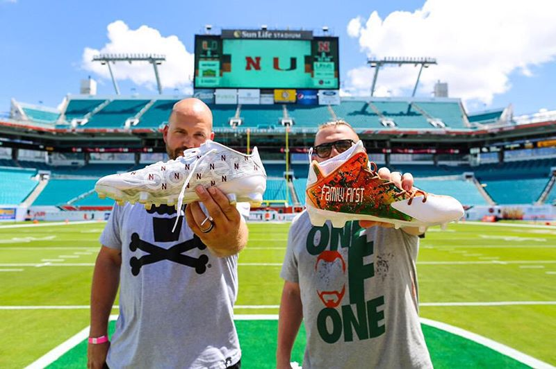 Mache & Soles By Sir Make Custom Cleats for Miami vs. Nebraska