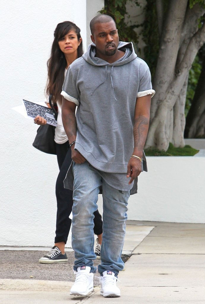 Kanye West Wearing Nike Air Max 90 Hyperfuse USA Pack (2)