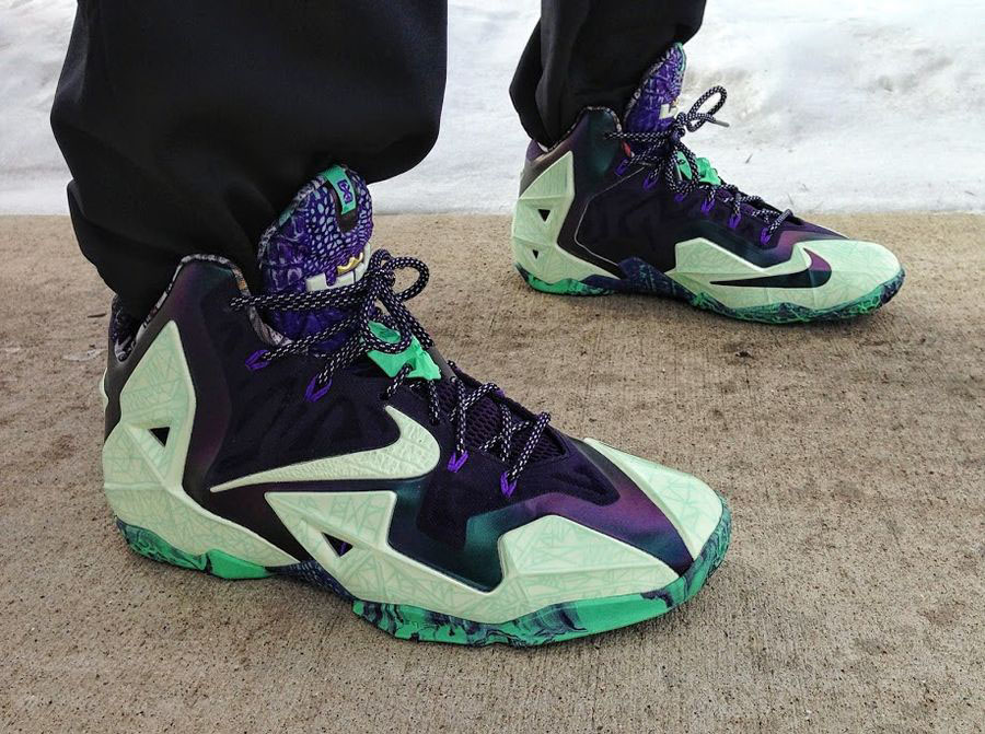 dwoodactennis wearing the 'All-Star' Nike LeBron XII 12