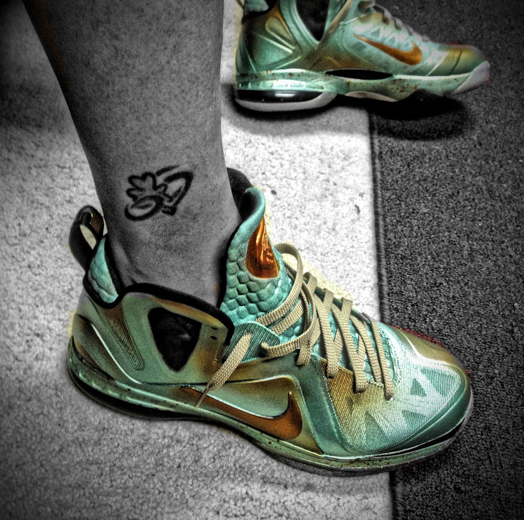Nike LeBron 9 P.S. Elite Statue of Liberty by Mache Custom Kicks (4)