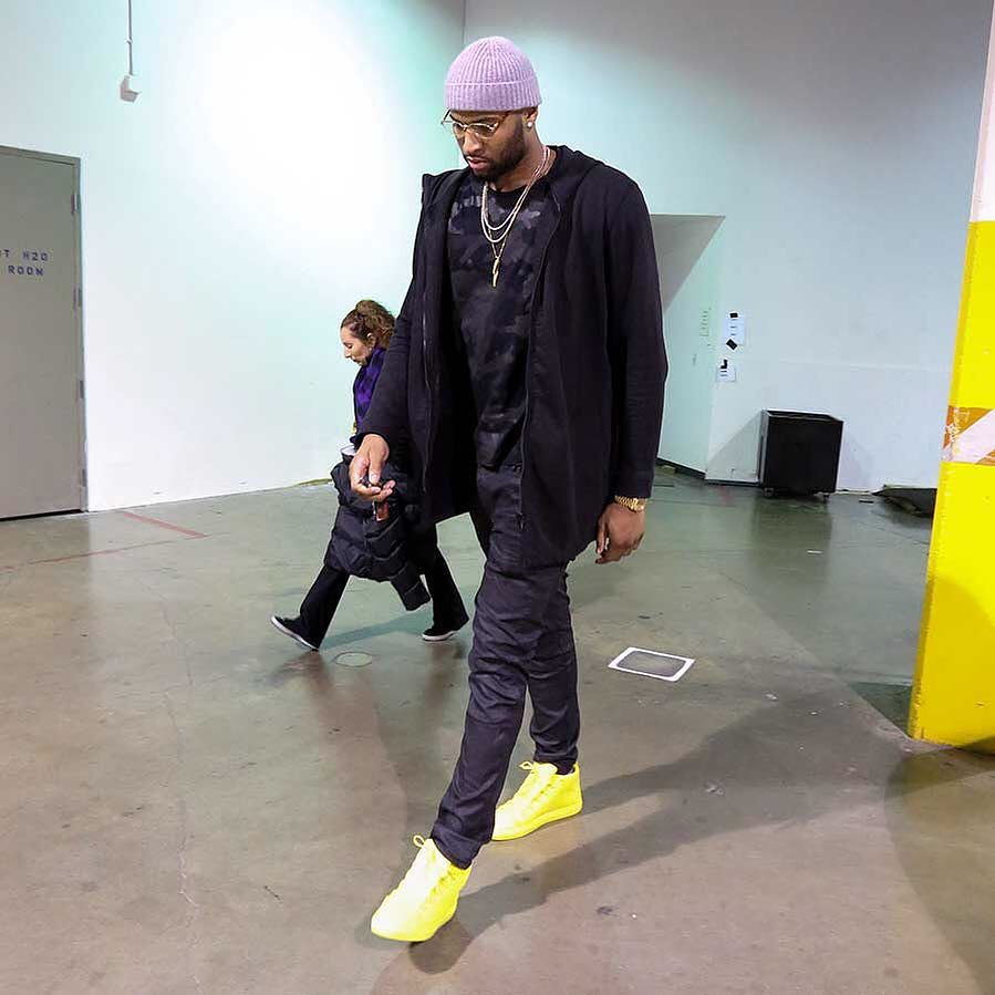 DeMarcus Cousins wearing the Yellow Balenciaga Arena