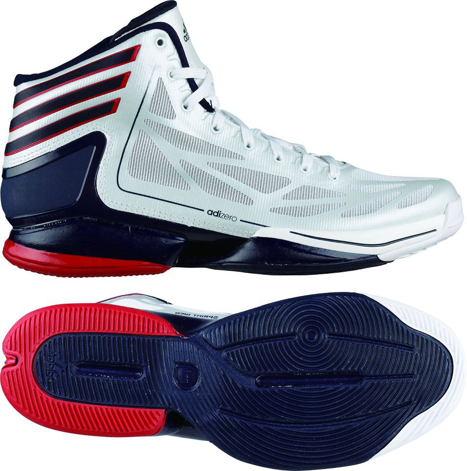 newest collection 91ccc a8e77 adidas adiZero Crazy Light 2 Running White Light Scarlet Collegiate Navy  G48805