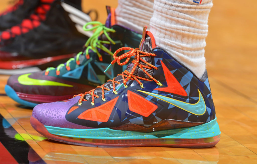 b922de37674d LeBron James wearing Nike LeBron X What the MVP (1)