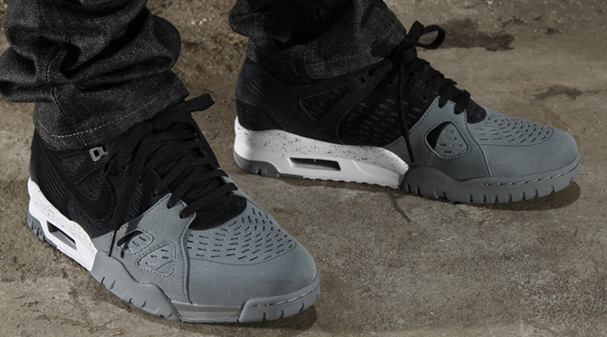 66fc91e1a817 Nike Air Trainer 3 Grey And Green