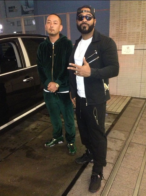 Jim Jones wearing Air Jordan VIII 8 Playoff