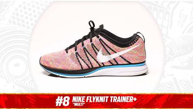 "Complex Best of 2013: Nike Flyknit Trainer+ ""Multicolor"" is the #8 Sneaker of the Year"