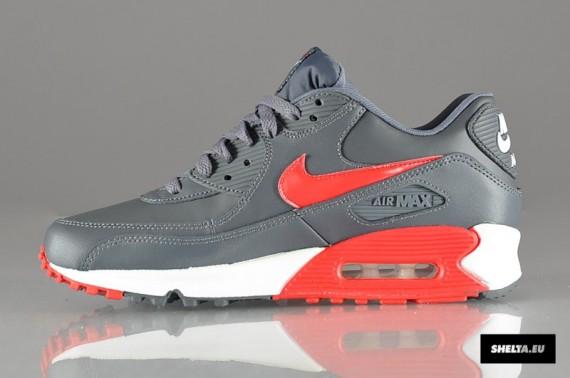 air max 90 grey and red