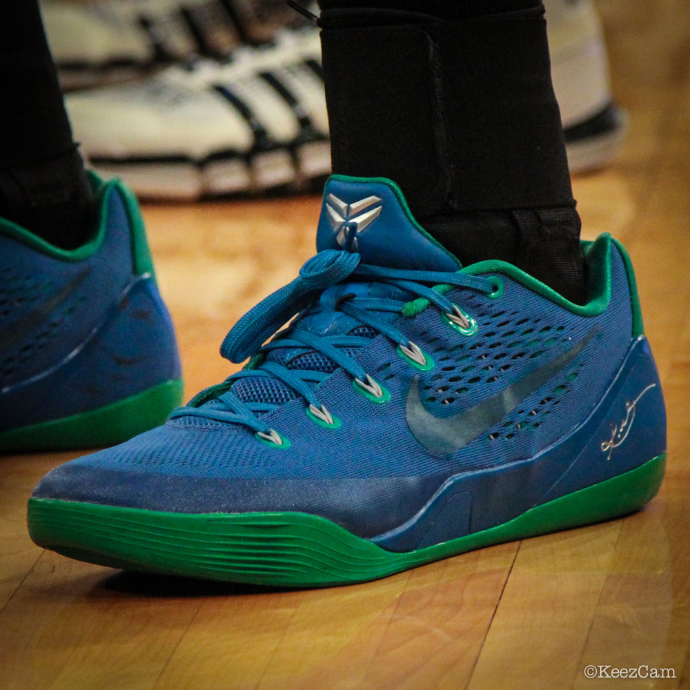 Devereaux Peters wearing Nike Kobe IX 9 EM Minnesota Lynx PE