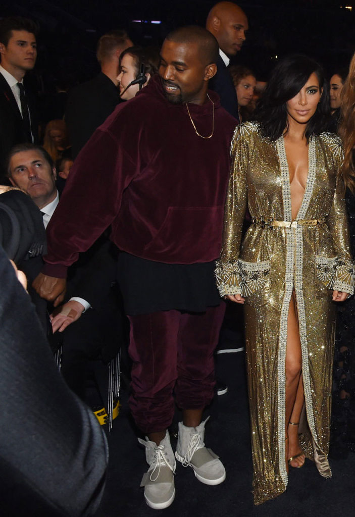8e295e42f755 Kanye West wearing adidas Yeezy 750 Boost at the Grammy Awards (3)