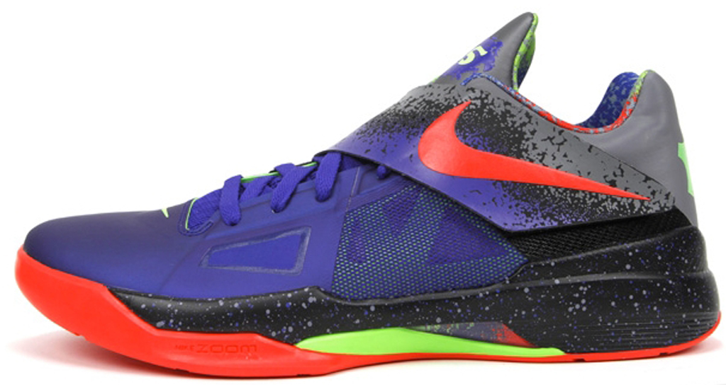 d3713b3c8ac7 Nike Zoom KD IV  Nerf  517408-400 Varsity Purple Orange Blaze-Neo Lime